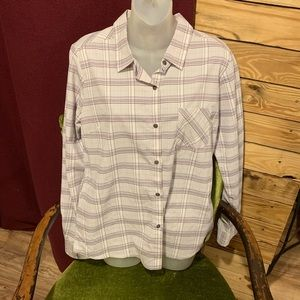 Prana Plaid Shirt Size M